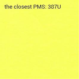 Brillanthaftpapier gelb 70g/m2 (empfohlener Druck schwarz)