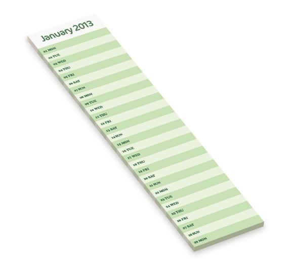 PM290 Kalender mit Karton-Aufsteller