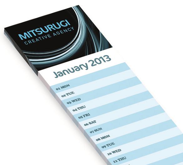 PM291 Kalender mit Karton-Aufsteller