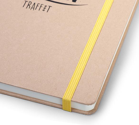 MN36-KRAFT Mindnotes in Bookcover - Umschlag mit KRAFT Papier Einband