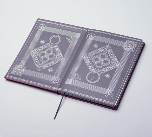 MN32 Mindnotes in Bookcover - Umschlag mit Florence Einband